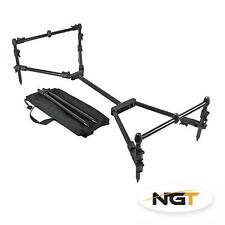 NGT Nomadic Pod 3 Rod Carp Fishing Rod Pod inc Case