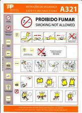 TAP Portugal NEW Airbus A321 Safety Card TAP Portugal Airlines