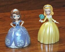 "*Set of 2* Walt Disney Princesses In Purple & Yellow 3"" Inches Tall Figurines!"