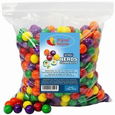 Wonka Nerds Filled Gumballs, 3 LB Bulk Candy