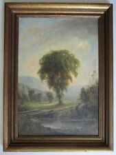 ANTIQUE Oil Painting Listed Europe Artist H.T.NUTTER 1875.