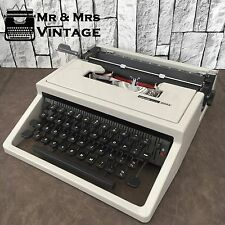 Immaculate Olivetti Dora Grey Typewriter Working Black Red Ribbon Made in Italy
