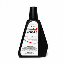 2 oz!!! BLACK Trodat / Ideal Rubber Stamp Refill Ink (for stamps & stamp pads)