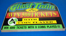 Sammy Ghost Train Jackpot Top Sign New Ticket Redemption Game