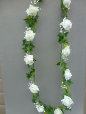 Artificial Mini Ivy & Ivory Roses Garland Wedding/Festival Decoration