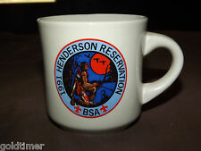 VINTAGE BSA BOY SCOUTS  COFFEE MUG 1991 HENDERSON RESERVATION