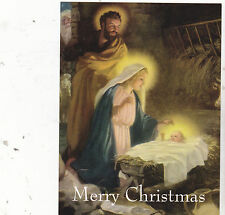 "*Postcard-""The Nativity Scene ...with/Joseph, Mary & Baby Jesus (#42)"