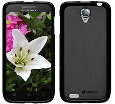 New Amzer Exclusive Pudding Matte TPU Fitted Case Cover For Lenovo S650 - Black
