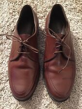 Men's Hush Puppies Brown Leather Lace Up Oxford W/ Comfort Curve, Size 11W