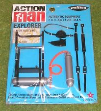 VINTAGE ACTION MAN 40th cardate Explorer alta quota bombole d'ossigeno Alpinista