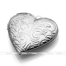 1x Love Heart Tribal Flower Picture Photo Frame Locket Pendant Charms Findings