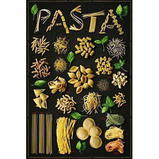 PASTA - COLLAGE POSTER - 24x36 SHRINK WRAPPED TYPES ITALIAN FOOD COOKING 1437