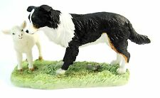 "Border Collie Dog Figurine - Border Fine Arts ""The Orphan"" Dog with Lamb"