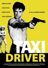 TAXI DRIVER A3 1976 ROBERT De NIRO FILM POSTER REPRINT FOR GERMAN RELEASE