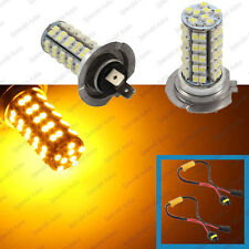 2-Piece Amber Yellow Luxeon 68 SMD H7 LED Daytime Running Light BMW 3 5 Series
