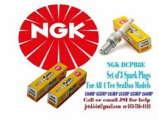Sea Doo 4-TEC NGK DCPR8E Spark Plugs SET OF 3 RXP-X RXT-X GTX-iS/aS 215/255/260