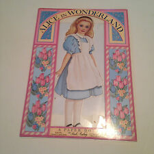 Alice In Wonderland Paper Dolls   Uncut  1995 Peck Aubry