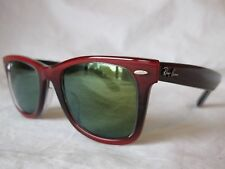 RAY BAN WAYFARER SUNGLASSES RB2140F 12022X GRADIENT RED 52-22-150 NEW AUTHENTIC