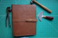 Leather Portfolio (Walnut)handmade i iPad case,Fits in Orvis overnight bag
