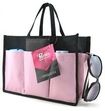 Periea Handbag Organiser, tidy, organizer, purse insert pink and black-Kristine