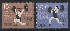 DDR East Germany 1966 ** Mi.1210/11 Sport Gewichtheben Weightlifting