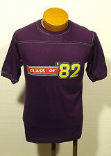 vintage CLASS OF '82 t-shirt jersey sparkle iron-on letters SMALL/MEDIUM