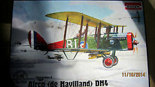 Airco ( de Havilland) DH 4  WWI     1/48  by Roden  #  422