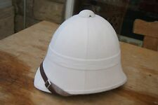 BRITISH ARMY COLONIAL ZULU WAR REPRO WHITE TROPICAL SAFARI SUN PITH HAT HELMET