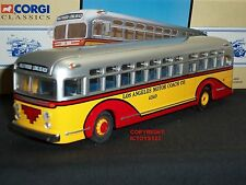 CORGI 97635 GM4502 LOS ANGELES MOTOR COACH HOLLYWOOD AMERICAN DIECAST MODEL BUS