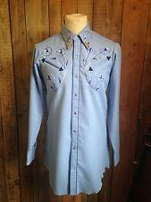 vtg CANADIAN western COWBOY shirt 38-40 chest ROCKABILLY hipster ROCKSTAR flashy