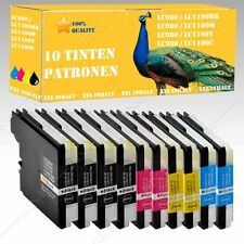 10x DS cartuchos compatibles con Brother lc980 lc1100 mfc-5490cn/mfc-5890cn 101
