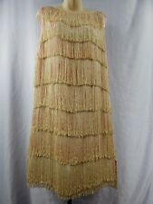 1920s 1930 Art Deco Vintage Antique Swing Fringe Tassel Flapper Dress Depression
