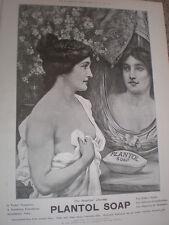 Plantol soap woman in mirror art advert 1905