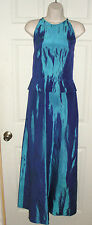 ALFRED ANGELO BLUE HIGH NECKLINE FORMAL GOWN DRESS PEPLUM SIZE 3/4 PROM WEDDING