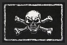 """Fußmatte """"Skull and Bones"""" *Totenkopf*gothic*heavy metal*Türmatte*schwarz*punk"""