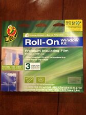 Duck Roll-ON Three 3 Window Insulating Kit Premium Insulating Film