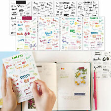 Diary DIY Sheets PVC Labels Planner Accessories inserts Stickers Alphabet Craft