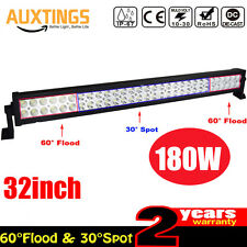180W Barre LED Rampe Light bar phare de travail 12V 24V SUV ATV 4x4 Offroad