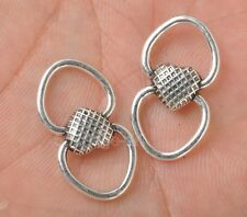 15pcs Tibetan Silver Charm heart Connector Beads Jewelry Making 24x13mm A3377
