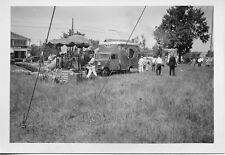 T575B RP 1930s PARKER & WATTS CIRCUS SETTING UP ?