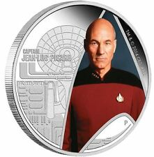 2015 Star Trek The Next Generation Captain Jean Luc Picard 1oz Silver Proof Coin