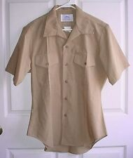 USMC US Marine Corps Khaki Tan Tropical Uniform Service A & C Shirt Size 16