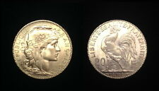 French Rooster 20 Gold Franc 1914 A GEM B.U. LUSTROUS COIN--A PRE WW-I NEAR MELT