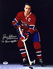 Jean Beliveau SIGNED 11x14 Photo + Insc. Montreal Canadiens PSA/DNA AUTOGRAPHED