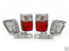 1992-1995 4RUNNER 4 RUNNER RED / CLEAR TAIL LIGHTS + CORNERS + BUMPERS COMBO