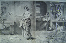 Peaceful Times By Marcus Stone London England Harper's Weekly 1875
