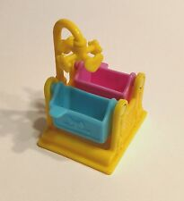 FISHER PRICE Sweet Streets Dollhouse TWIN BABY CRIB BASSINET from HOSPITAL SET