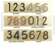 House Numbers - Brass Bronze Copper or Nickel Mail box