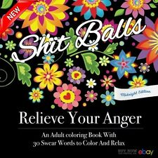 Relieve Your Anger Midnight Edition Swear Words Adult Coloring Books 30 Designs