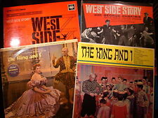 JOBLOT MUSICALS - THE KING AND I/WEST SIDE STORY - VINYL ALBUMS X 4